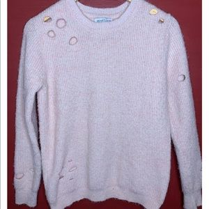 Heartloom Distressed Pink Sweater